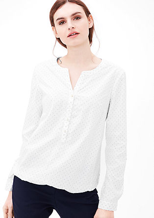 Jacquard cotton blouse from s.Oliver