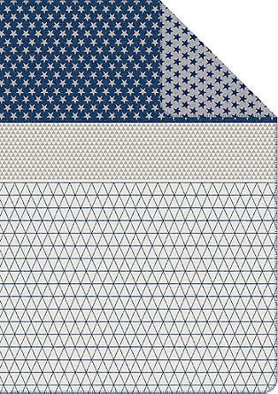 Jacquard-Decke mit Sternchen