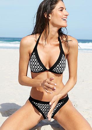 Jacquard halterneck bikini top from s.Oliver