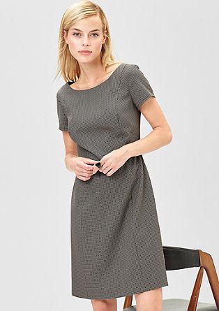 Jacquard jurk met ceintuur