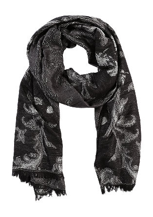 Jacquard scarf with a glitter effect from s.Oliver