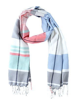 Jacquard scarf with stripes from s.Oliver