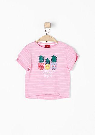 Jacquard-Shirt mit Ananasprint