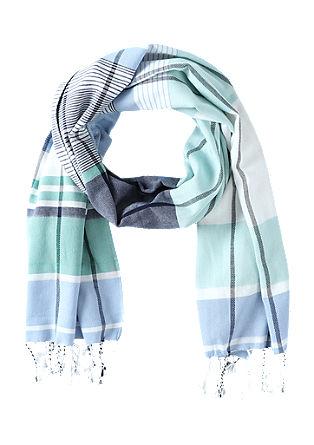 Jacquard sjaal met strepen