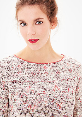 Jacquard sweater in een etnische look
