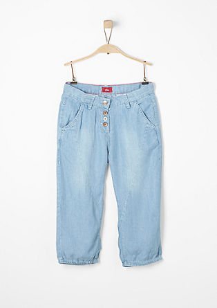 Jeans-Bermuda aus fließendem Denim