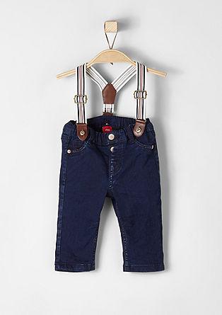 Jeans hlače z naramnicami
