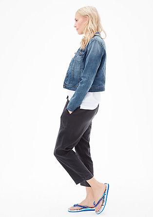 Jeans jakna s stoječim ovratnikom
