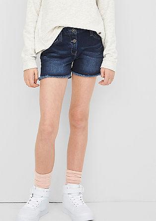 Jeans kratke hlače z gumbi