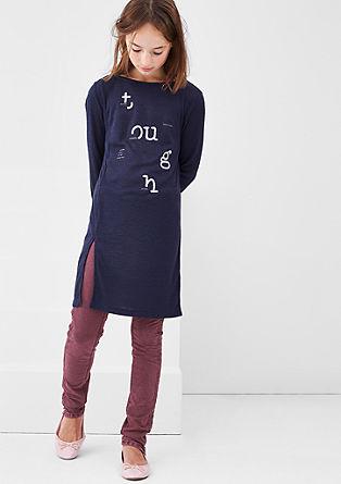 Jeans legice z učinkom barvnega pranja