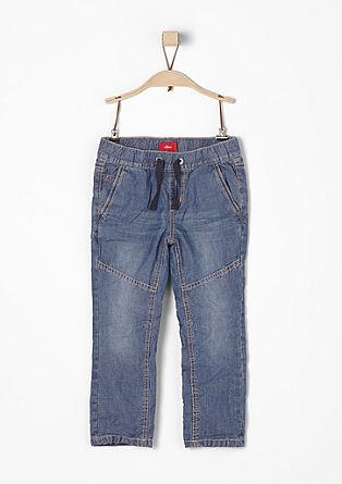 Jeans met een elastische tailleband
