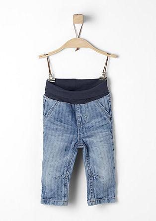 Jeans met een subtiele look van een visgraatmotief