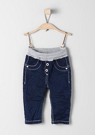 Jeans met omslag aan de band