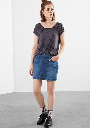 Jeans-Mini mit Abnähern