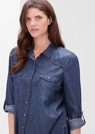 Jeans shirt with press studs from s.Oliver