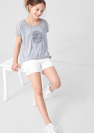 Jeans-Shorts mit Glanznieten