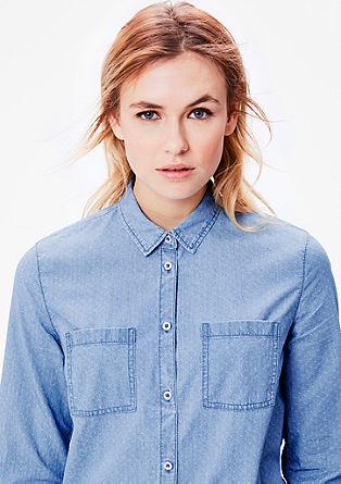 Jeans srajca z drobno teksturo