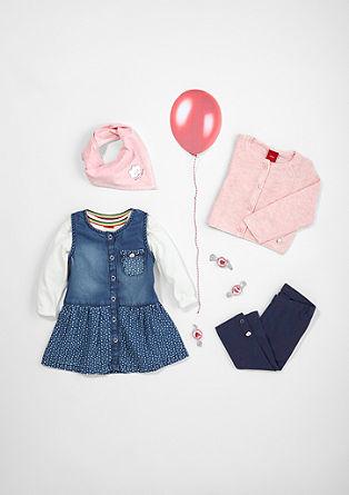Jeanskleid mit Druckknopfleiste
