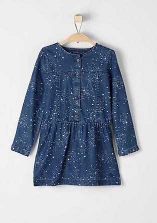 Jeanskleid mit Sternchen