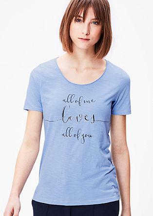 Jedkana majica z napisom