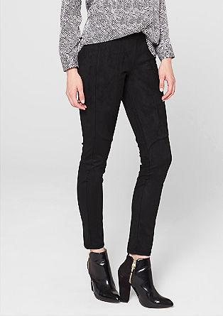 Jeggings in Velours-Optik