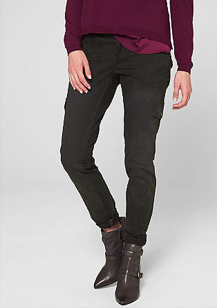 Jeggings with mock pockets from s.Oliver
