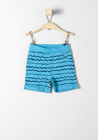 Jersey Bermudas with a wave print from s.Oliver