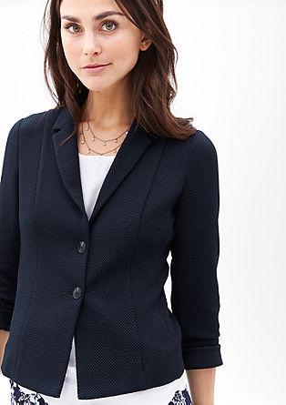 Jersey-Blazer mit Wabenstruktur