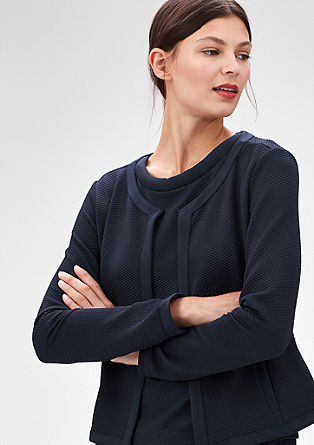 Jersey blazer with a diamond texture from s.Oliver