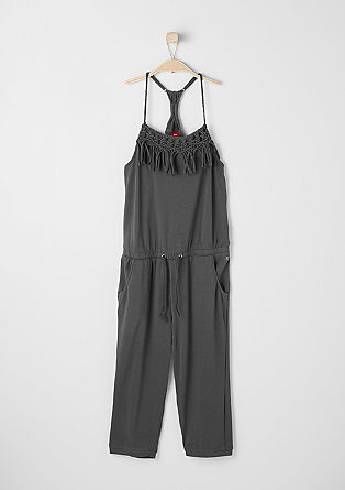 Jersey jumpsuit with braided details from s.Oliver