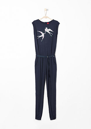 Jersey jumpsuit with sequins from s.Oliver