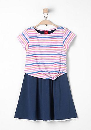 Jersey jurk in een 2-in-1 look