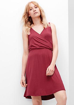 Jersey jurk in een wikkellook