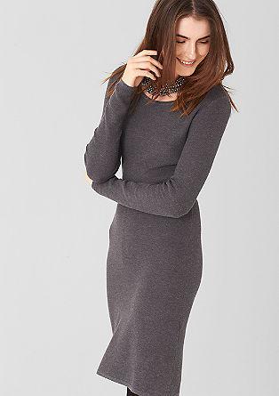 Jersey jurk met ceintuur