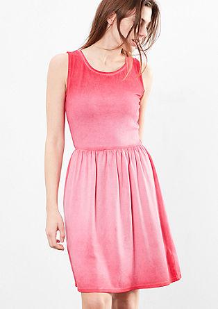 Jersey jurk met een garment-washed effect