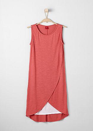 Jersey jurk met een laagjeslook