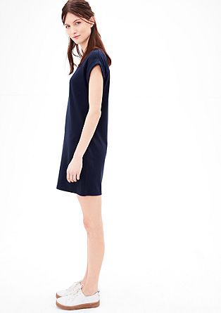 Jersey jurk met figuurnaden