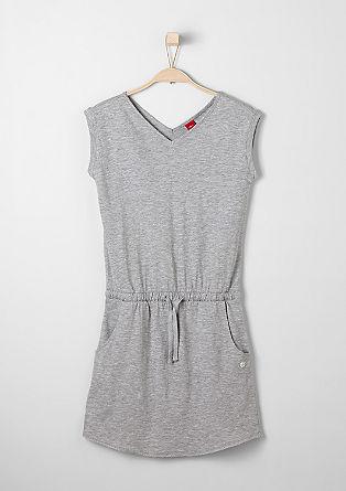 Jersey jurk met gehaakte zoom