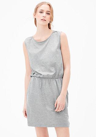Jersey jurk met glanseffect