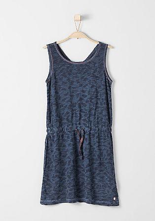 Jersey jurk met glinsterende naad