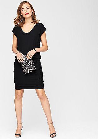 Jersey jurk met glittereffect