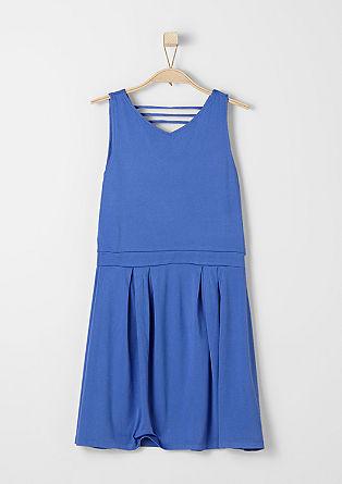 Jersey-Kleid mit V-Neck