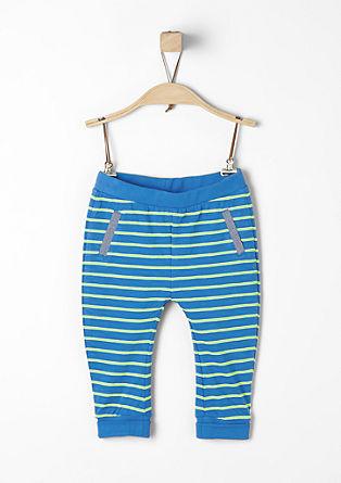 Jersey legging met neonkleurige strepen