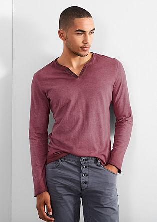 Jersey longsleeve met een vintage look