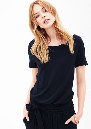 Jersey-Overall mit gesmokter Taille