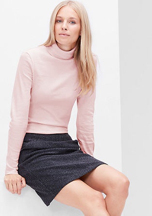 Jersey polo neck top from s.Oliver