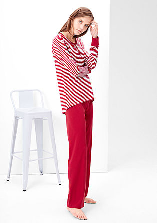 Jersey-Pyjama mit weiter Hose