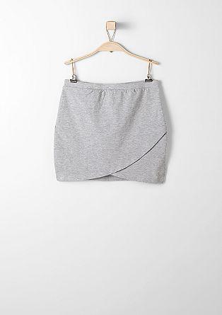Jersey rok met een wikkellook