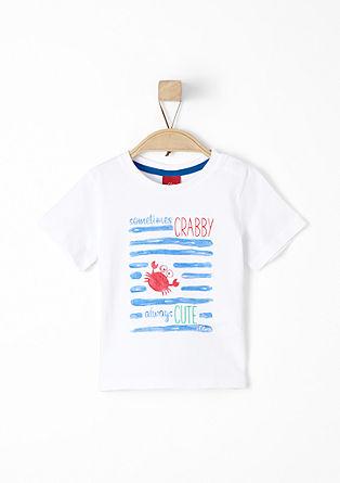 Jersey shirt met een print op de voorkant