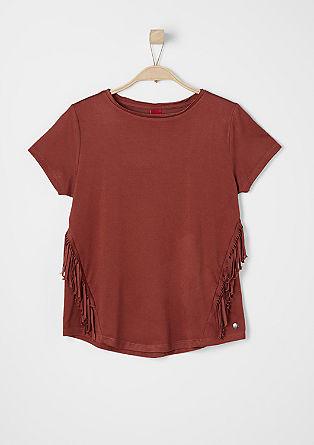 Jersey shirt met fringes